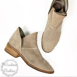 Eileen Fisher Leaf Perforated Ankle Booties